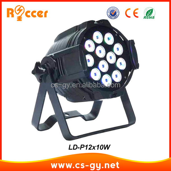 high power 12pcs 10w lamp source led par64 light 12x10w