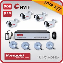 IP Camera System 4pcs 720P Camera 4CH NVR System ONVIF P2P Network Camera Kit