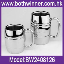 Coffee mug thermal cup ,H0T280 convenient stainless steel heat insulation barrels for sale