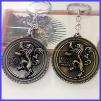 Game of Thrones Keychain the House Lannister Metal Pendant Badge Jewelry Key Ring