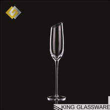200ml 7oz angle rimed lead free fusion crystal stemware champagne glass glassware dinner set made in China