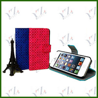 NEW Products wholesale price for iphone5c card slot stand litchi grain leather phone case