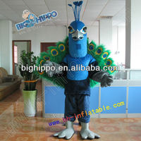 Fur plush peacock mascot costumes