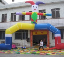 Clown Inflatable Arch Promotional Inflatable Archways With Dismountable Slogan