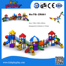 Customized colorful children commercial outdoor playground equipment, children's garden playground