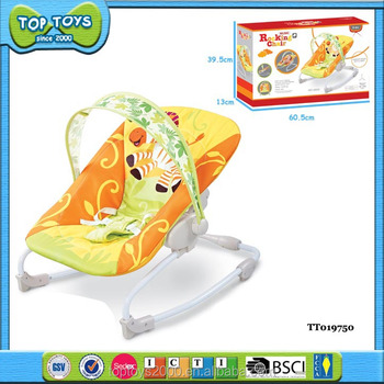 Portable safety baby folding musical baby rocking chair