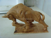 hand made resin animal indoor bull sculpture