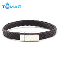 Fashion men bracelet leather with magnetic buckle