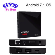 A5X Plus Mini RK3328 1G 8G arabic iptv box android set top wholesale smart tv Android 7.1 TV Box