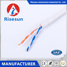 0.5mm pvc jacket indoor 2 pair telephone cable from changzhou risesun