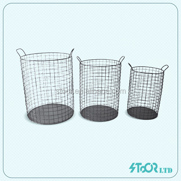 Clothing Storage Metal basket , Storage Bench With Wicker Baskets