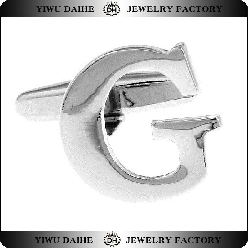 Daihe Letter G mens cuff links