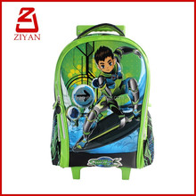 Cool cartoon character kids trolley travel school bag