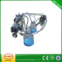 KIMO Dairy With Transparent Milk Bucket Vacuum Pump Portable Camel Milking Machine