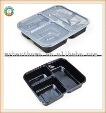 Disposable bento to go lunch box packaging food plastic SGS/FDA Appoval