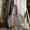 Heavy Duty Waxed Canvas Weekend Bag For Ladies