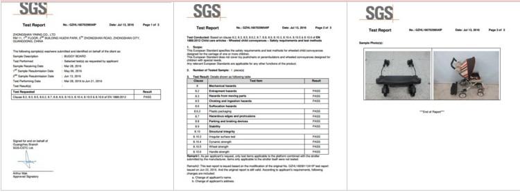 Hot Sale EN1888 Universal Kids Buggy Board For Stroller