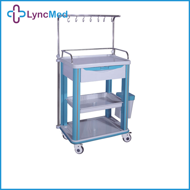 ABS medical infusion trolley cheap medical crash carts clinic equipment trolley