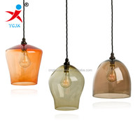 Colored Glass Traditional Shape Glass Pendant