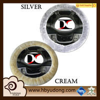 high quaity sheepskin steering wheel cover with various colors