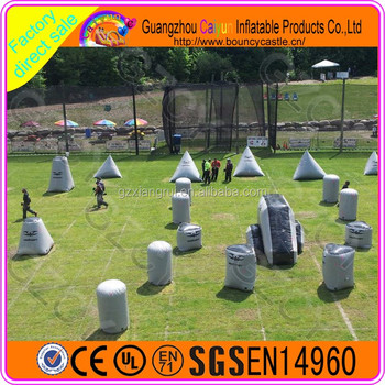 Top quality Inflatable Paintball Obstacle, Air Paintball bunkers for sale