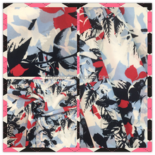 fashion patterns high twist custom printed floral chiffon fabric
