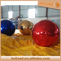 popular giant colorful mirror inflatable chrome balloon for display