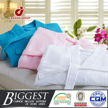wholesale hotel various color cotton/polyester waffle bathrobe