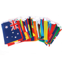 Wholesale 200 countries rectangle mini world bunting flags banner