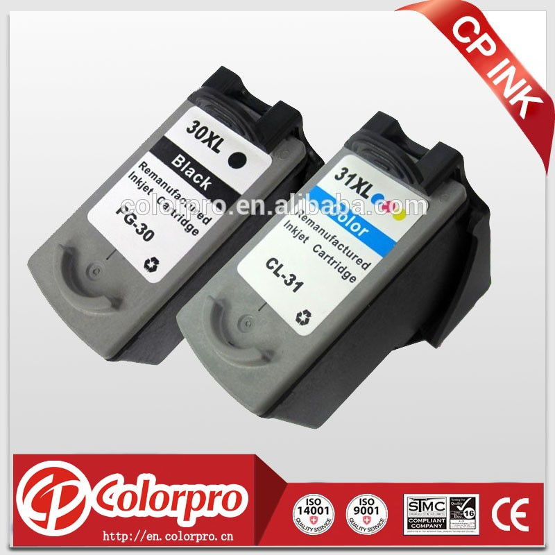 for canon PG-30xl/CL-31xl, reman ink cartridges for canon PIXMA MP140/ MP190/ MP210