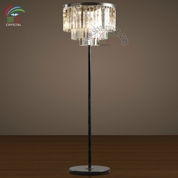 modern crystal floor standing lamp made in china