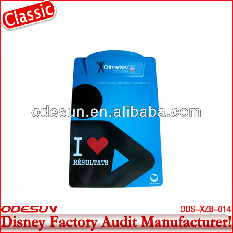 Disney factory audit plastic clipboard with storage 145171
