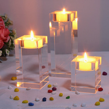 China Factory Wholesale Home Decoration Cheap Crystal Candle Holder