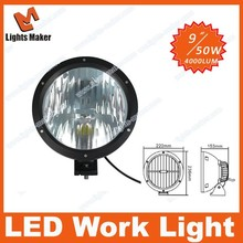 2014 New products in December! 50W with CREE chips LED driving light, 9inch LED work light LML-3450 Lights Maker