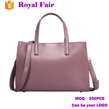 Fashion Ladies Women Genuine Leather Tote Handbag With Compartments