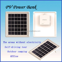 portable mobile phone charger with solar panel and power bank