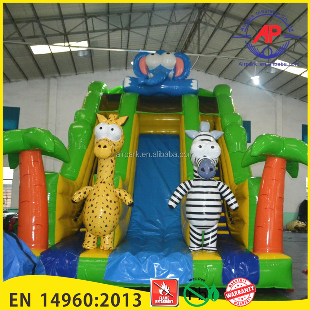 Airpark Popular Commerical Children Cartoon OEM Inflatable Slide