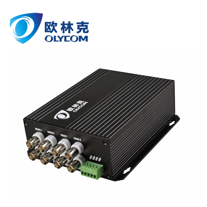 8channel BNC RS485 data video digital optical converter with OEM service