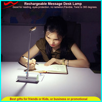 Funny Message Desk Lamp /USB rechargeable mini bus reading light