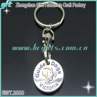 Supermarket Coin Tokens Keychain Shopping Metal Trolley Coin Keyring