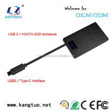 SATA Wireless 2.5 inch HDD Enclosure 15mm Black 100% Brand new and High Quality USB 3.1 Sata External 2.5 HDD Enclosure