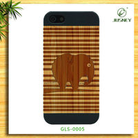 For Cell Phone Cases IPhone 4 Wooden&PC Material