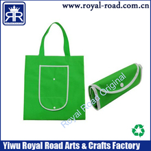 silk-screen print OEM foldable nonwoven shopping bag