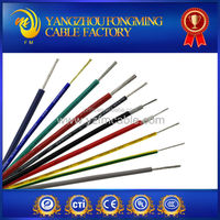 UL approved 600 volt 200 degree single strand copper electrical silicone rubber insulated cable wire 0.5mm