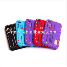 Letter Mail Post Stamps Shape Silicone Soft Case Cover For iPhone 4 4G 4S