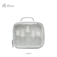 2017 hot new products transparent waterproof BSCI china factory women fashion pu cosmetic bag clear cosmetic bag