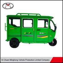 Passenger all closed three wheel tricycle with electric motor