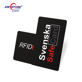 Anti-theft E-field RFID Scanner Blocking Cards for Credit bank card
