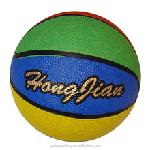 2015new style hot sell made in China good quality customized logo official size orange rubber basketball