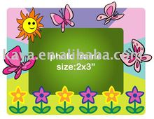 FLOWER DESIGN plastic photo frame with soft pvc